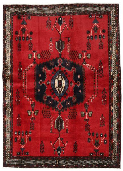 Afshar Matto 169X236 Itämainen Käsinsolmittu Punainen/Tummanruskea (Villa, Persia/Iran)
