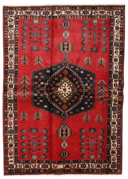 Afshar Matto 168X235 Itämainen Käsinsolmittu Tummanruskea/Punainen/Tummanpunainen (Villa, Persia/Iran)