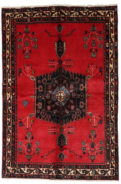 Afshar Matto 153X228 Itämainen Käsinsolmittu Punainen/Tummanruskea (Villa, Persia/Iran)