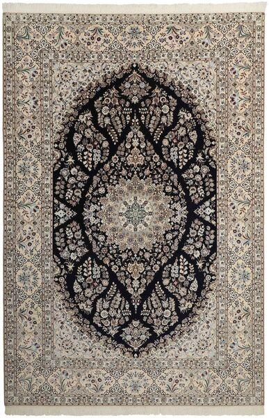 Nain 6La Matto 209X311 Itämainen Käsinsolmittu Vaaleanharmaa/Tummanharmaa (Villa/Silkki, Persia/Iran)