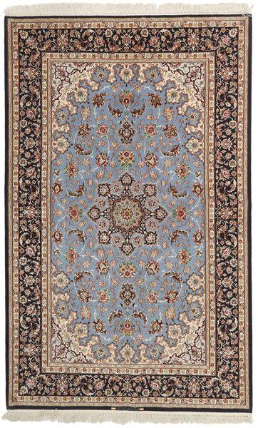 Isfahan Silkkiloimi Matto 155X248 Itämainen Käsinkudottu Vaaleanharmaa/Tummanruskea (Villa/Silkki, Persia/Iran)