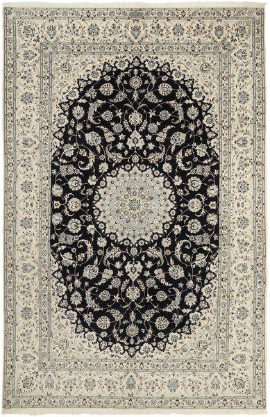 Nain 6La Matto 207X320 Itämainen Käsinsolmittu Vaaleanharmaa/Tummanharmaa (Villa/Silkki, Persia/Iran)