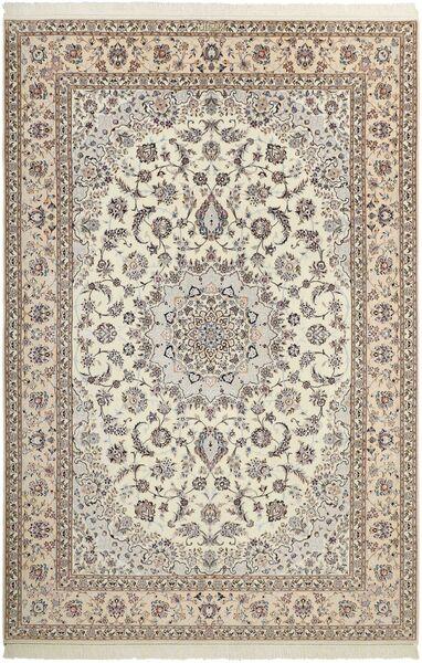 Nain 6La Matto 210X308 Itämainen Käsinsolmittu Vaaleanharmaa/Beige (Villa/Silkki, Persia/Iran)