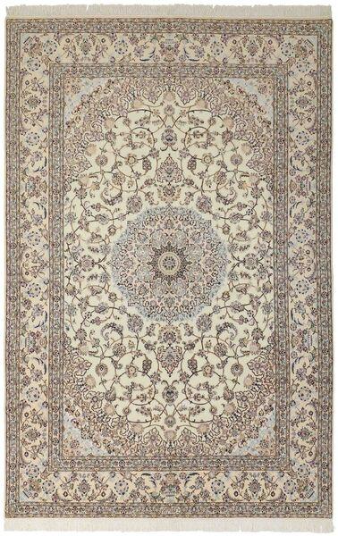 Nain 6La Matto 207X312 Itämainen Käsinsolmittu Vaaleanharmaa/Vaaleanruskea (Villa/Silkki, Persia/Iran)