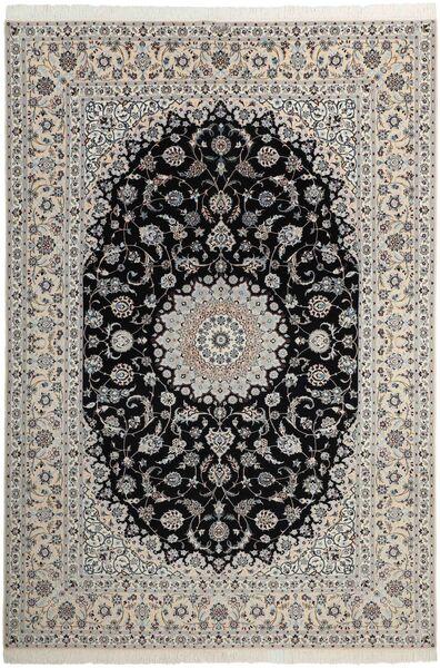 Nain 6La Matto 210X311 Itämainen Käsinsolmittu Vaaleanharmaa/Tummanharmaa (Villa/Silkki, Persia/Iran)