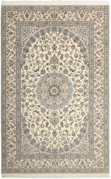 Nain 6La Matto 206X315 Itämainen Käsinsolmittu Vaaleanharmaa/Beige (Villa/Silkki, Persia/Iran)