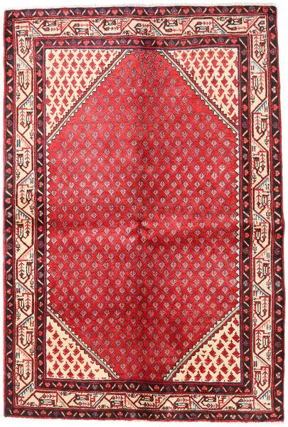 Mir Boteh Matto 133X202 Itämainen Käsinsolmittu Punainen/Tummanruskea (Villa, Persia/Iran)