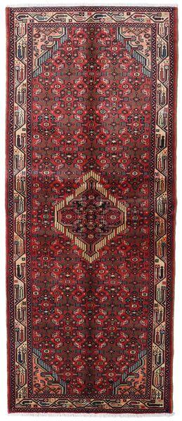 Asadabad Matto 83X203 Itämainen Käsinsolmittu Käytävämatto Tummanpunainen (Villa, Persia/Iran)