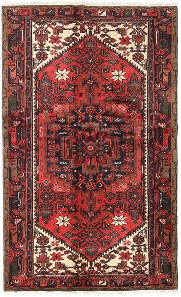 Hamadan Matto 122X197 Itämainen Käsinsolmittu Tummanruskea/Tummanpunainen (Villa, Persia/Iran)