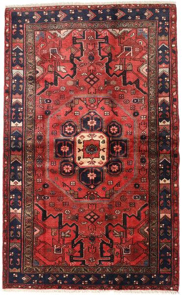 Hamadan Matto 125X201 Itämainen Käsinsolmittu Tummanpunainen/Tummanruskea (Villa, Persia/Iran)