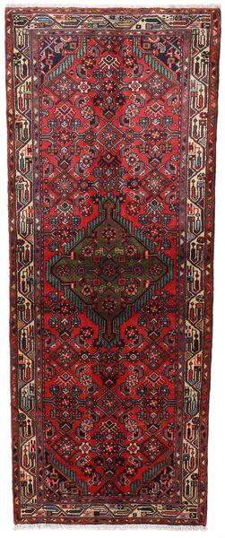 Asadabad Matto 80X202 Itämainen Käsinsolmittu Käytävämatto Tummanpunainen/Ruskea (Villa, Persia/Iran)
