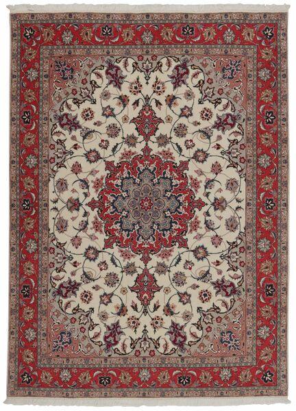 Tabriz 50 Raj Matto 151X204 Itämainen Käsinkudottu Tummanpunainen/Vaaleanharmaa (Villa/Silkki, Persia/Iran)