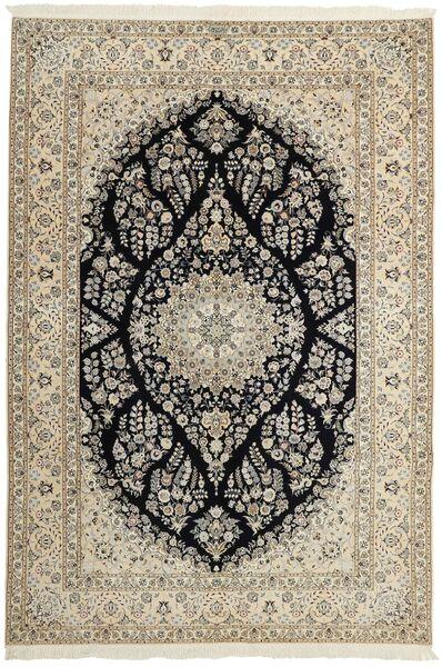 Nain 6La Matto 210X310 Itämainen Käsinsolmittu Vaaleanharmaa/Tummanharmaa (Villa/Silkki, Persia/Iran)