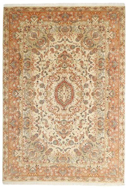 Tabriz 50 Raj Matto 205X297 Itämainen Käsinkudottu Beige/Ruskea (Villa/Silkki, Persia/Iran)