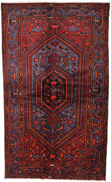 Hamadan Matto 141X234 Itämainen Käsinsolmittu Tummanpunainen (Villa, Persia/Iran)