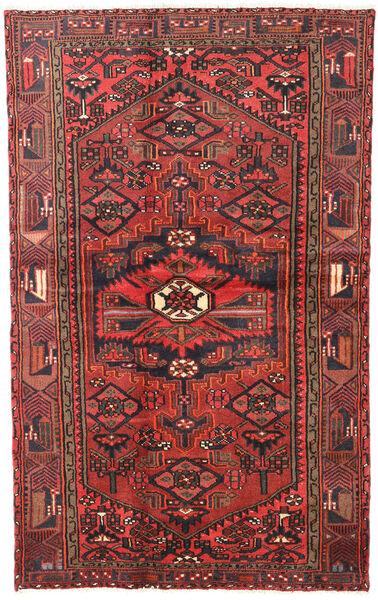Hamadan Matto 120X193 Itämainen Käsinsolmittu Tummanpunainen/Tummanruskea (Villa, Persia/Iran)
