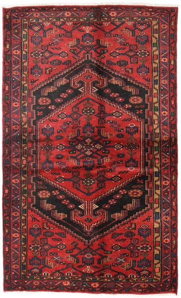 Hamadan Matto 130X213 Itämainen Käsinsolmittu Tummanpunainen/Musta/Ruoste (Villa, Persia/Iran)