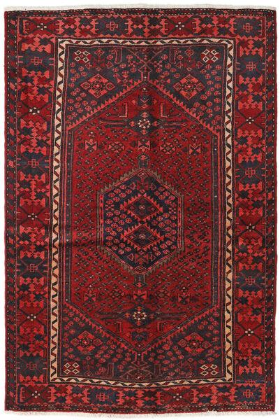 Hamadan Matto 129X191 Itämainen Käsinsolmittu Tummanpunainen/Musta (Villa, Persia/Iran)