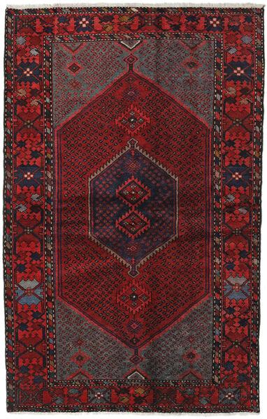 Hamadan Matto 135X210 Itämainen Käsinsolmittu Tummanpunainen/Musta (Villa, Persia/Iran)