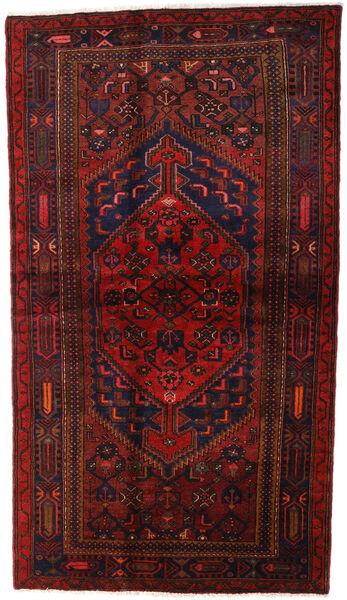 Hamadan Matto 132X228 Itämainen Käsinsolmittu Tummanpunainen (Villa, Persia/Iran)