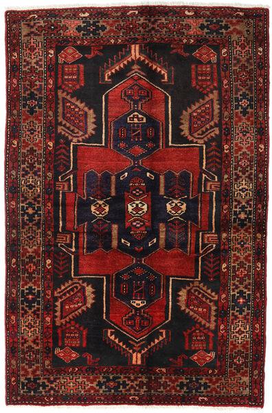 Hamadan Matto 131X200 Itämainen Käsinsolmittu Tummanpunainen/Musta (Villa, Persia/Iran)