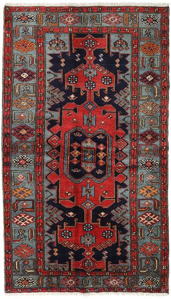 Hamadan Matto 132X227 Itämainen Käsinsolmittu Tummansininen/Tummanpunainen (Villa, Persia/Iran)