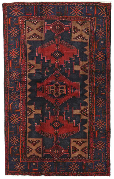 Hamadan Matto 124X201 Itämainen Käsinsolmittu Tummanpunainen/Musta (Villa, Persia/Iran)