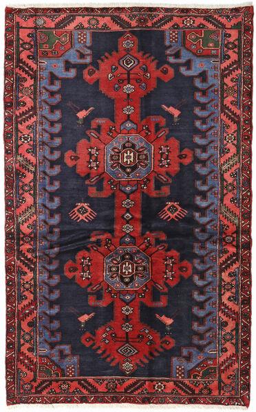 Hamadan Matto 124X199 Itämainen Käsinsolmittu Tummanharmaa/Tummanpunainen (Villa, Persia/Iran)