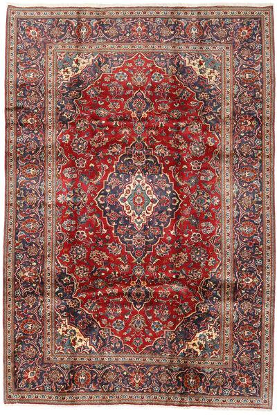 Keshan Matto 198X292 Itämainen Käsinsolmittu Tummanpunainen/Tummanruskea (Villa, Persia/Iran)