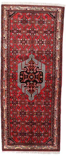 Asadabad Matto 78X187 Itämainen Käsinsolmittu Käytävämatto Tummanpunainen/Tummanruskea (Villa, Persia/Iran)
