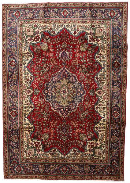 Tabriz Matto 211X301 Itämainen Käsinsolmittu Tummanpunainen/Tummanharmaa (Villa, Persia/Iran)