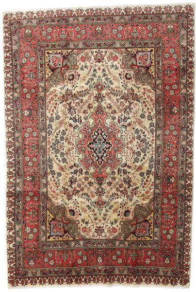 Tabriz Matto 207X298 Itämainen Käsinsolmittu Tummanruskea/Vaaleanruskea (Villa, Persia/Iran)