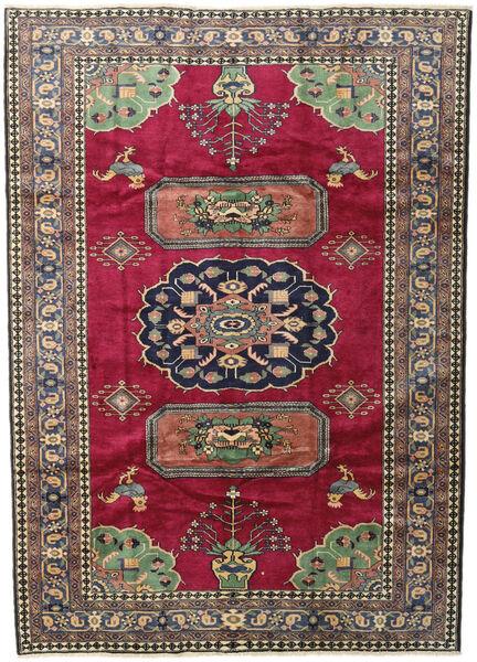 Ardebil Matto 200X281 Itämainen Käsinsolmittu Tummanpunainen/Musta (Villa, Persia/Iran)