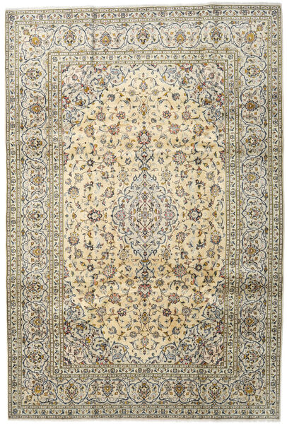 Keshan Matto 201X299 Itämainen Käsinsolmittu Tummanbeige/Vaaleanharmaa (Villa, Persia/Iran)