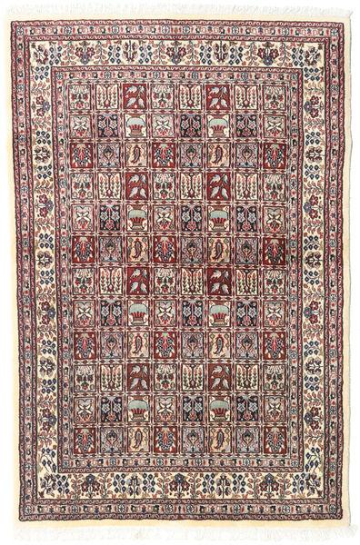 Moud Matto 98X150 Itämainen Käsinsolmittu Beige/Vaaleanharmaa (Villa/Silkki, Persia/Iran)