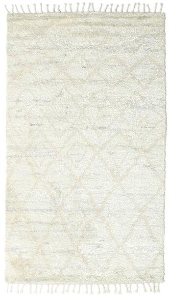 Barchi/Moroccan Berber - Indo Matto 160X230 Moderni Käsinsolmittu Beige/Valkoinen/Creme/Vaaleanharmaa (Villa, Intia)