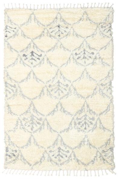 Barchi/Moroccan Berber - Indo Matto 160X230 Moderni Käsinsolmittu Valkoinen/Creme/Beige/Vaaleanharmaa (Villa, Intia)