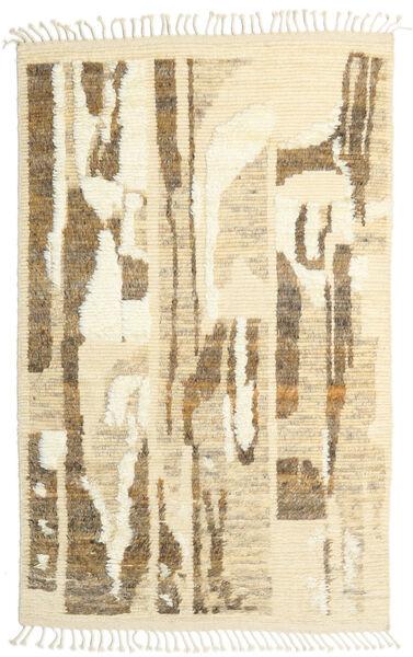 Barchi/Moroccan Berber - Indo Matto 160X230 Moderni Käsinsolmittu Tummanbeige/Keltainen/Vaaleanruskea (Villa, Intia)