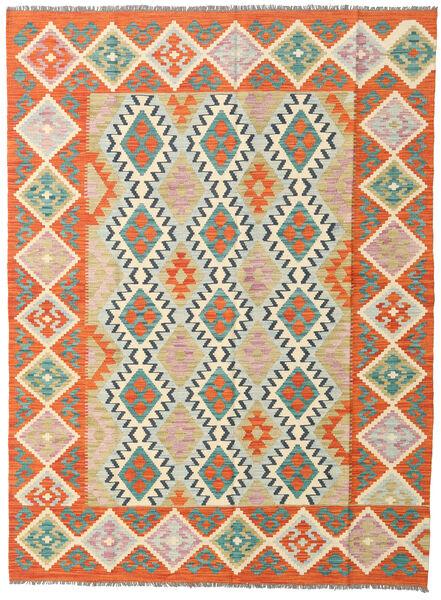 Kelim Afghan Old Style Matto 178X239 Itämainen Käsinkudottu Oranssi/Tummanbeige (Villa, Afganistan)