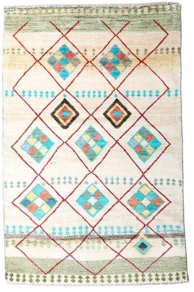 Moroccan Berber - Afghanistan Matto 118X184 Moderni Käsinsolmittu Valkoinen/Creme/Beige (Villa, Afganistan)