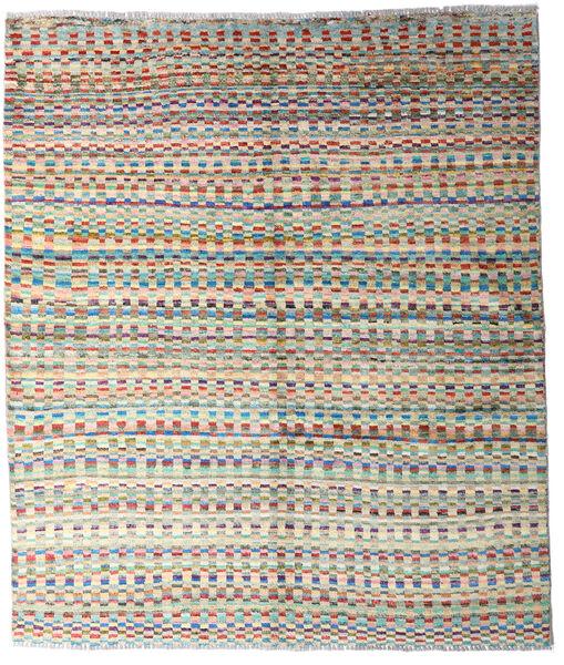 Moroccan Berber - Afghanistan Matto 156X181 Moderni Käsinsolmittu Beige/Siniturkoosi (Villa, Afganistan)