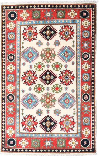 Kazak Matto 94X149 Itämainen Käsinsolmittu Beige/Vaaleanharmaa (Villa, Afganistan)
