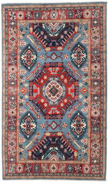 Kazak Matto 198X332 Itämainen Käsinsolmittu Tummanharmaa/Tummanpunainen (Villa, Afganistan)