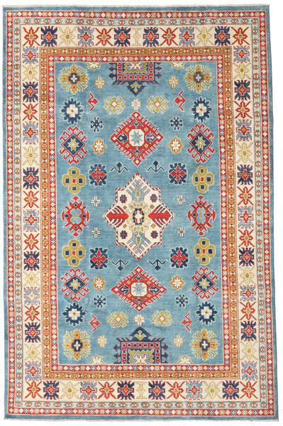 Kazak Matto 193X296 Itämainen Käsinsolmittu Tummanbeige/Siniturkoosi (Villa, Afganistan)