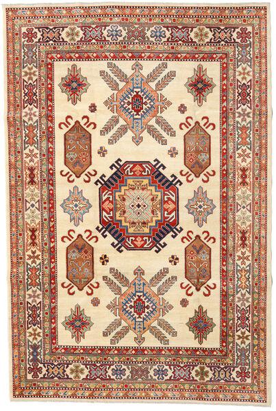 Kazak Matto 199X299 Itämainen Käsinsolmittu Beige/Tummanpunainen (Villa, Afganistan)