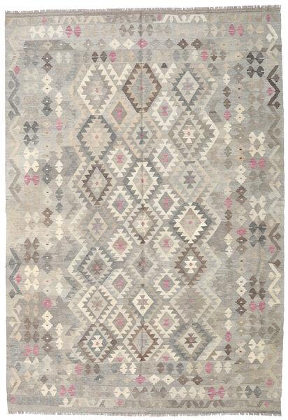Kelim Afghan Old Style Matto 205X297 Itämainen Käsinkudottu Vaaleanharmaa/Beige (Villa, Afganistan)