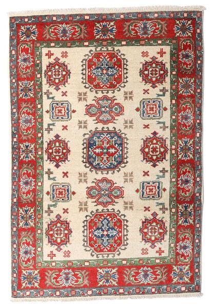 Kazak Matto 84X125 Itämainen Käsinsolmittu Beige/Tummanruskea (Villa, Afganistan)