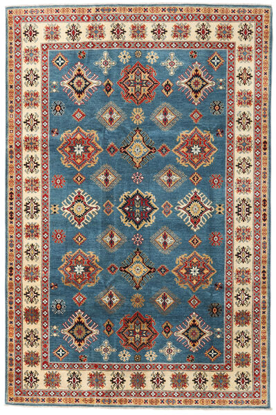 Kazak Matto 199X302 Itämainen Käsinsolmittu Tummansininen/Vaaleanruskea (Villa, Afganistan)