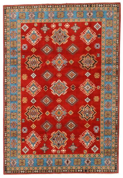 Kazak Matto 197X289 Itämainen Käsinsolmittu Ruoste/Vaaleanruskea (Villa, Afganistan)