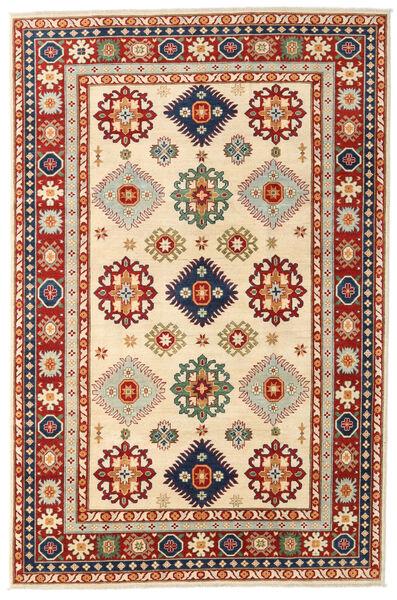 Kazak Matto 198X301 Itämainen Käsinsolmittu Tummanpunainen/Beige (Villa, Afganistan)
